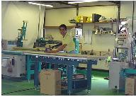 畳工場の様子